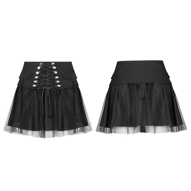 Nifty punk mesh plaid skirt