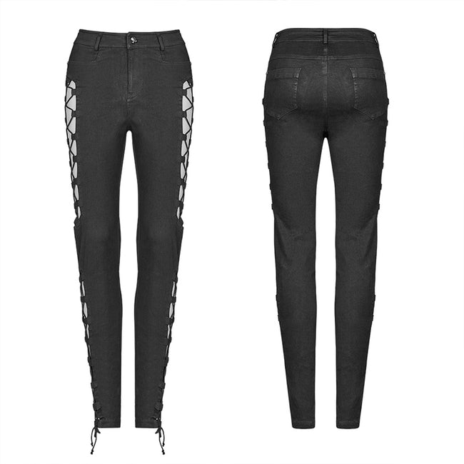 Punk Split Hollow-out Trousers