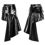 Metallic Rock Irregular Skirt