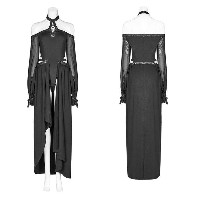 Dark Night Jumpsuit with Detachable Long Skirt
