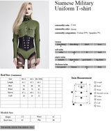 Military Nylon Retro Buttons Jumpsuits Combat Leather Punk Shirts