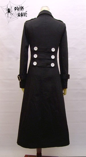 Single Breasted Long Sleeve Junior Punk Trench Coat
