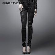 Fashion Black Ladies Punk Pants For Women