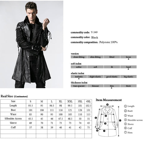 Studded Special Hot Fit Leather Long Gothic Coat