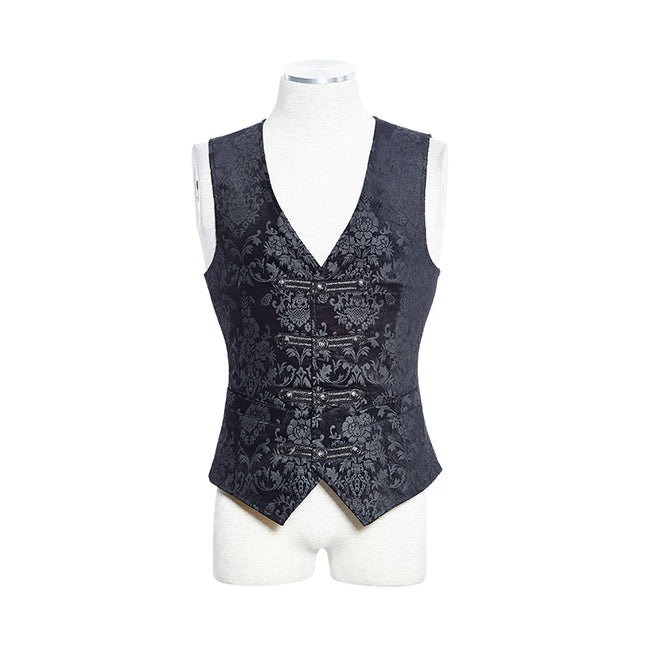 Fancy Colorful Printing Western Style Gothic Vest