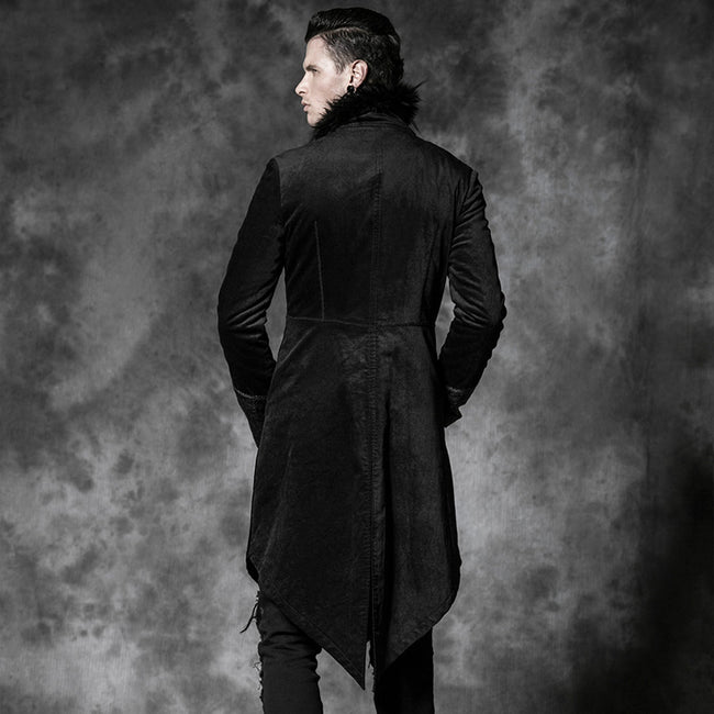 Casual Long With Camel Collar Gothic Trench Coats For Men