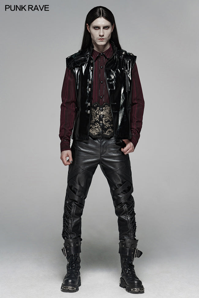 Punk Elastic PU Leather Pants