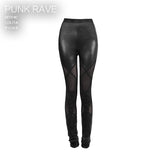 Sexy Lady Fashion Lamination Mesh Lace Fake Boot Gothic Pants Legging