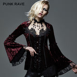 Lace Thin Long Sleeve Gothic Shirt With Velvet
