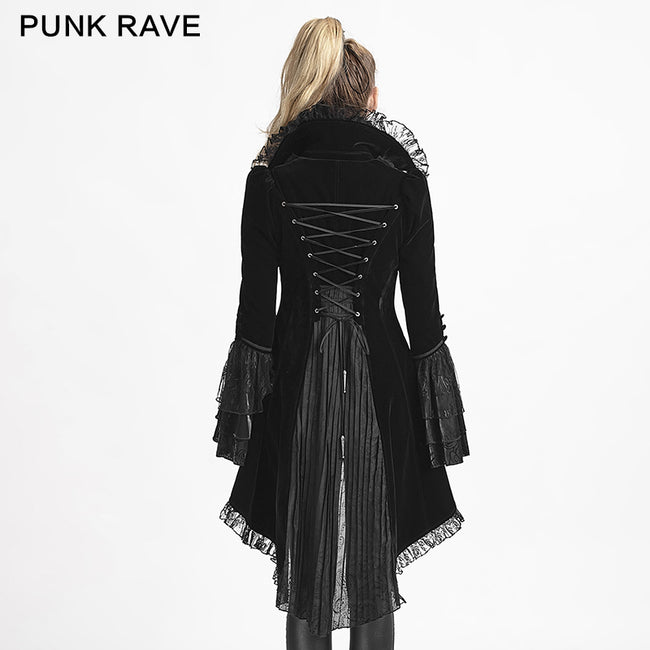 Winter Long Flare Sleeves Gothic Trench Coats With Swallowtail