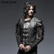 Cool Military Leather Short Punk Jacket