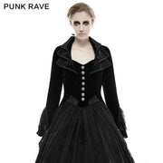 Mystery Women Jacket Elegant Gothic Coat With Lace