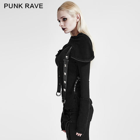 Street Decadent Style Punk Hoodies Knitted Sweater