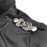 Twill Fabric Punk Shirts With Drawing String Military Uniform