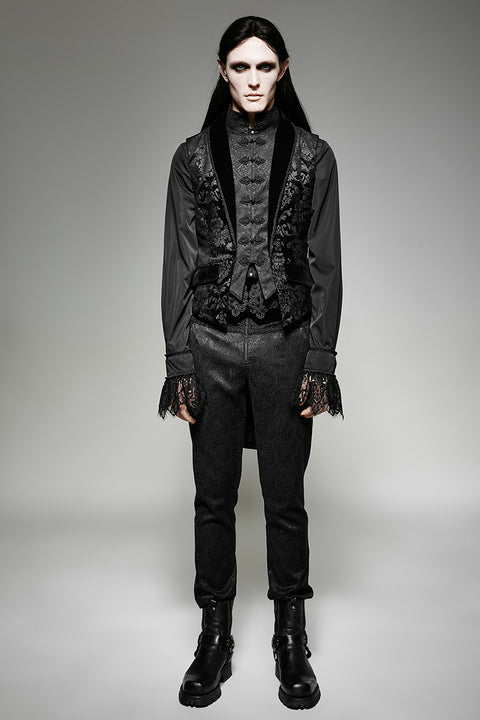 Gorgeous Fake Two Pieces Gothic Military Jackets With Lace Weaving Pattern