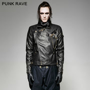Black Short Vintage Punk Jacket For Men