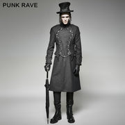 Vintage Long Gothic Trench Coats For Men