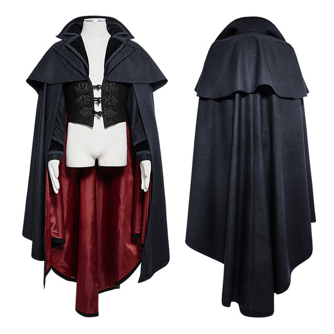 Luxury Gothic Trench Coats With Pattern Like Vampire Count Cape