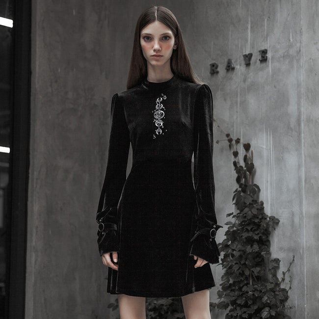 Velvet Japanese Embroidery Dress