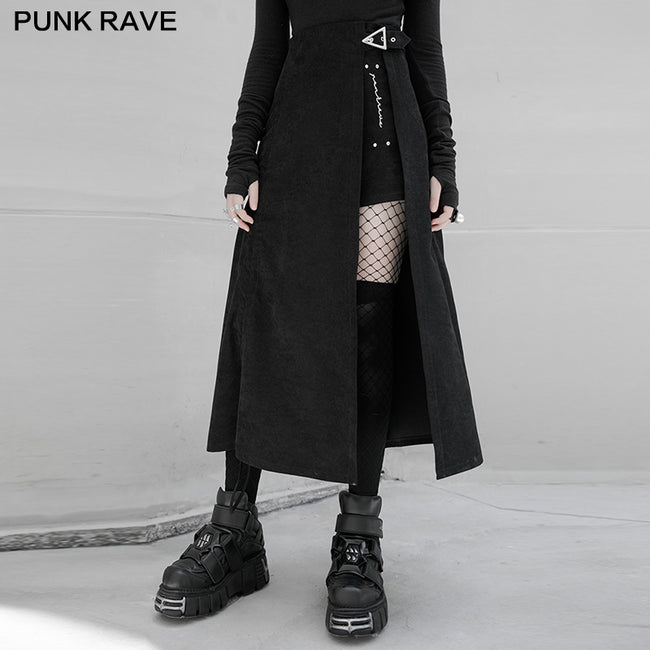 Punk Asymmetric A shape half skirt