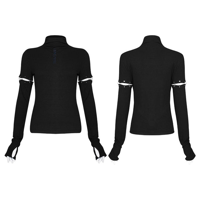 Removable sleeves long sleeve t-shirt