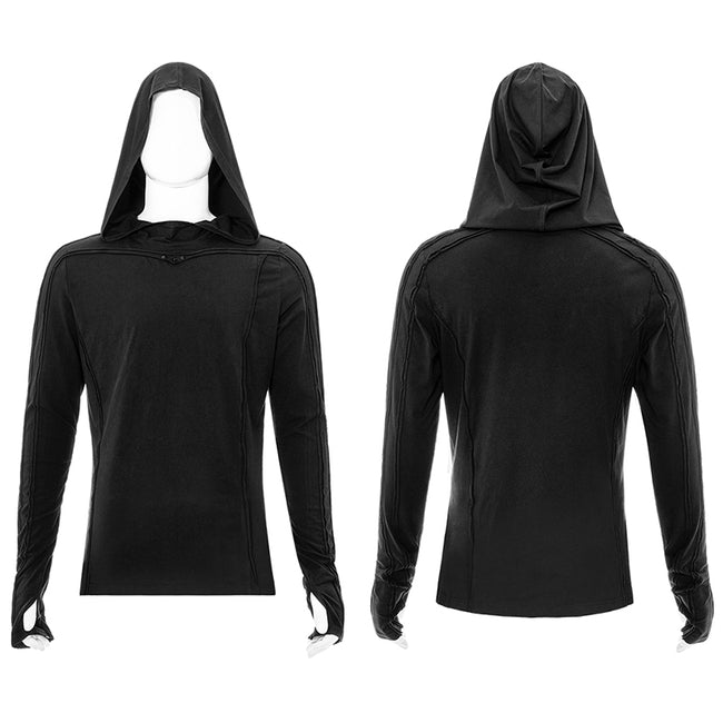 Simple dark long sleeve T-shirt
