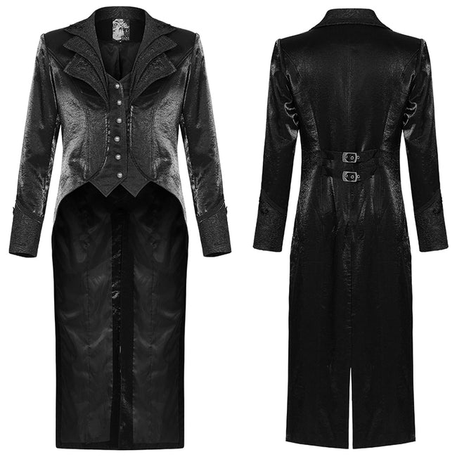 Gothic ornate multilayer collar coat