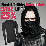 Comfortable Elastic Printing Gothic T-shirt For Men