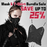 Punk Rivet Face Sexy Leather Mask Accessories