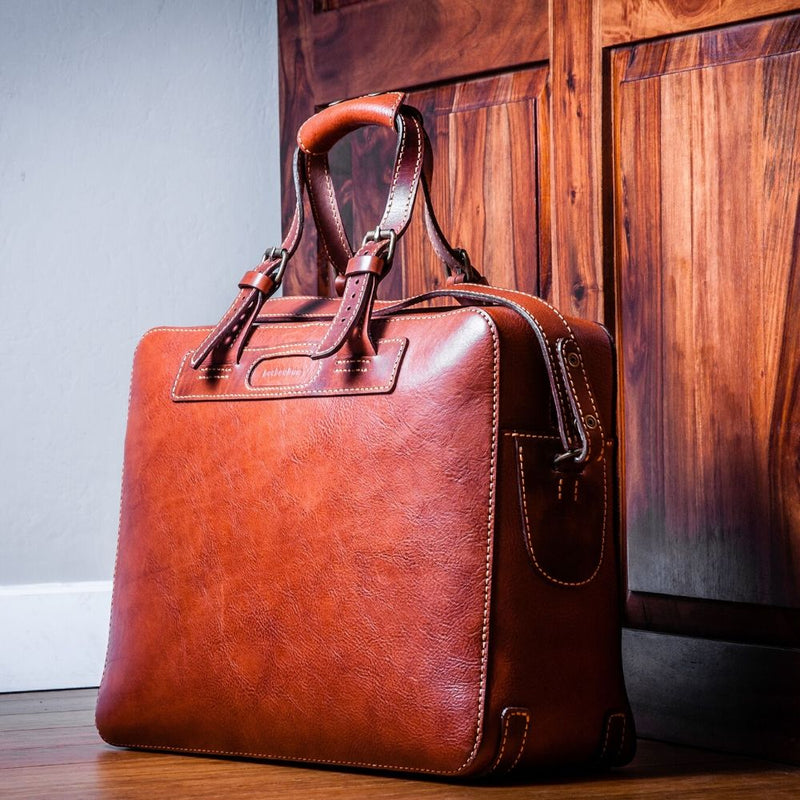 Leather Travel Bag by V&P Leather Artisans