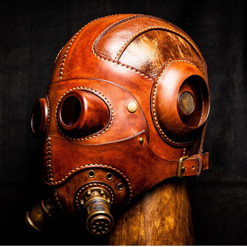 Steampunk Leather Mask by V&P Leather Artisans