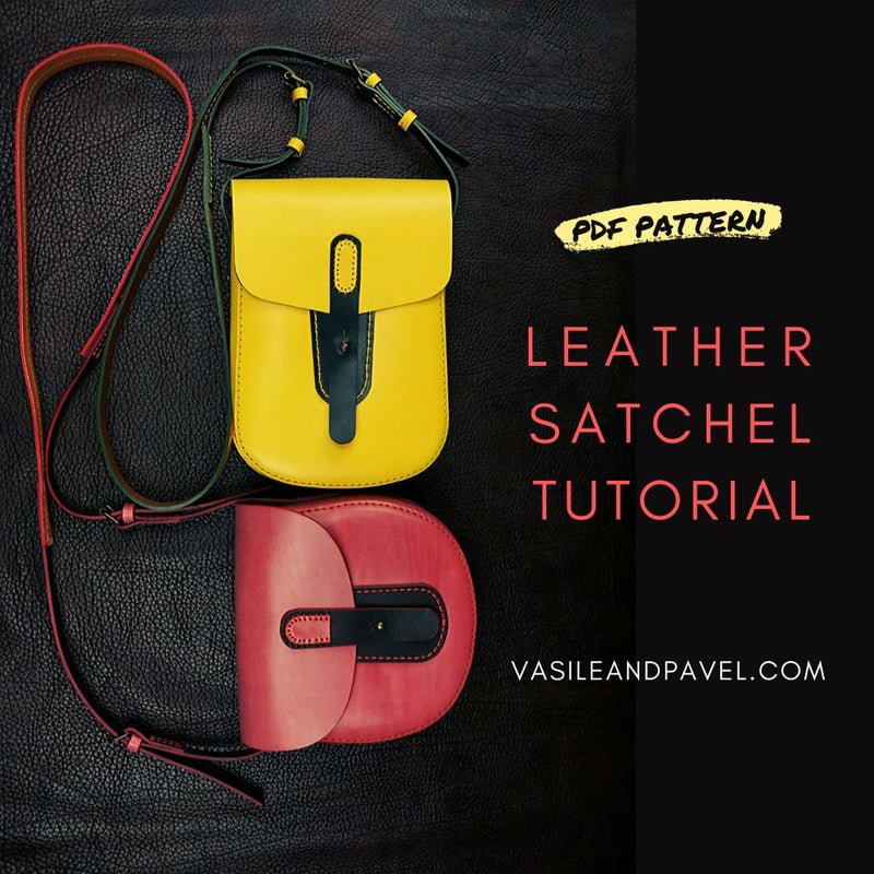Leather Satchels, 2 PDF patterns & video PDF pattern v&pdesign