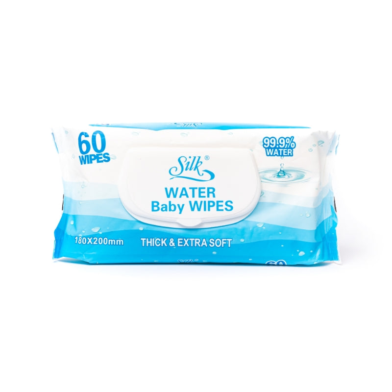 99.9% Water Baby Wipes 60's