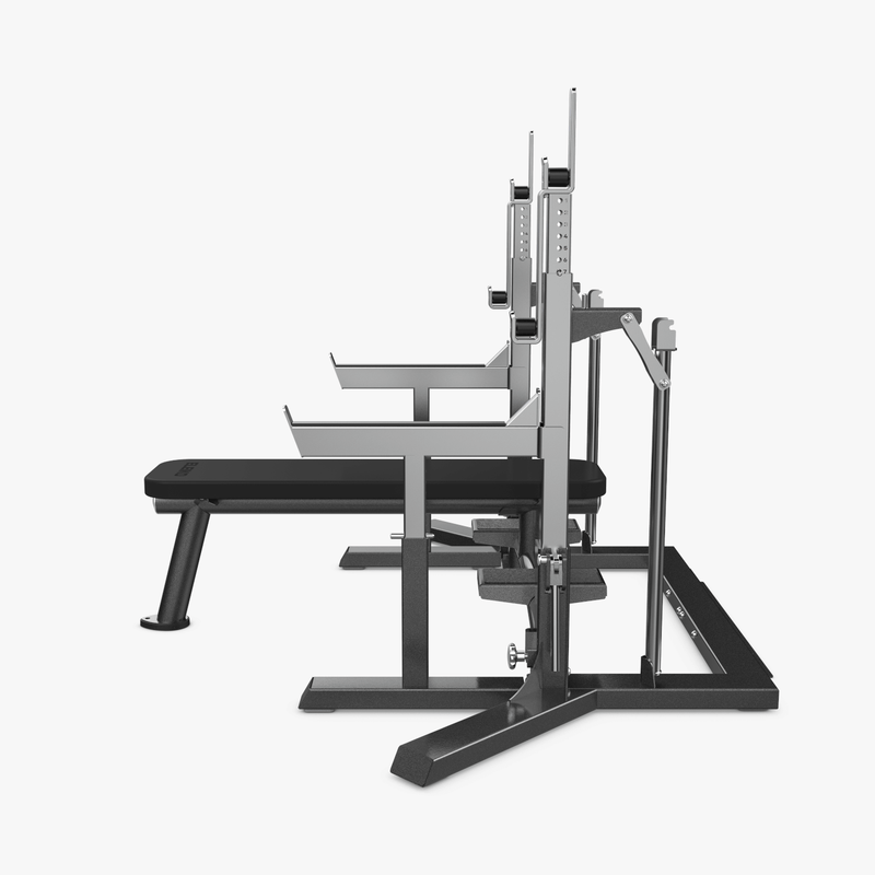 Eleiko IPF Powerlifting Squat Stand/Bench Combo side view