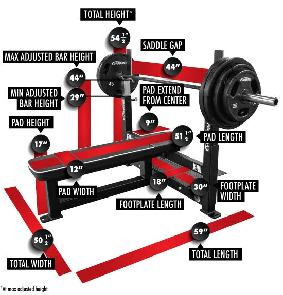 Legend  Competition Flat Bench Press