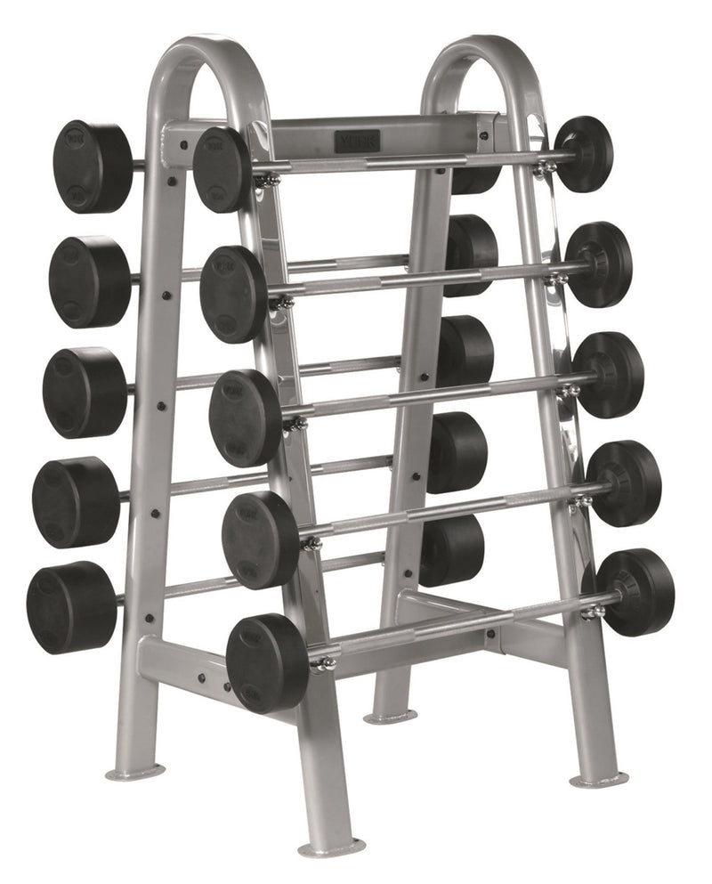 York ETS Fixed Straight And Curl Barbell Rack