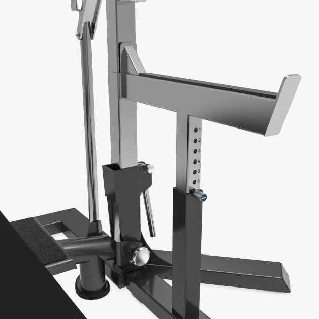 Eleiko IPF Powerlifting Squat Stand/Bench Combo adjustments