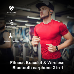 New 2019 LT04 Smart Watch Earbud Double Bluetooth Answer Call Real Time Heart Rate MIC Supported Smartwatch Bracelet Men Women