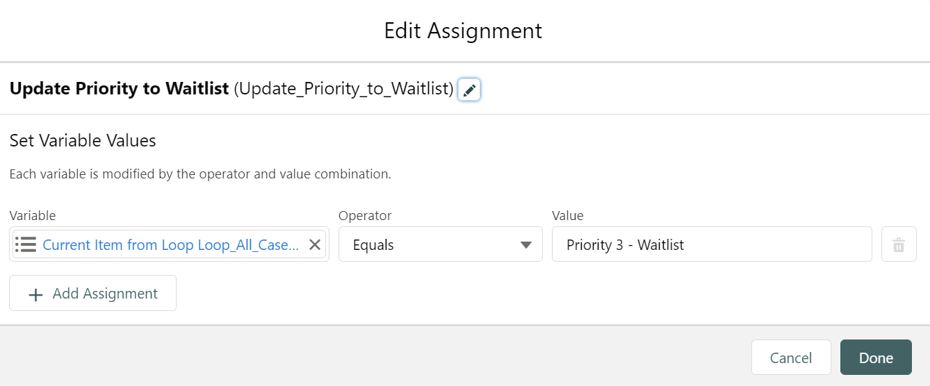 Assignment-3: Update Priority to Waitlist: