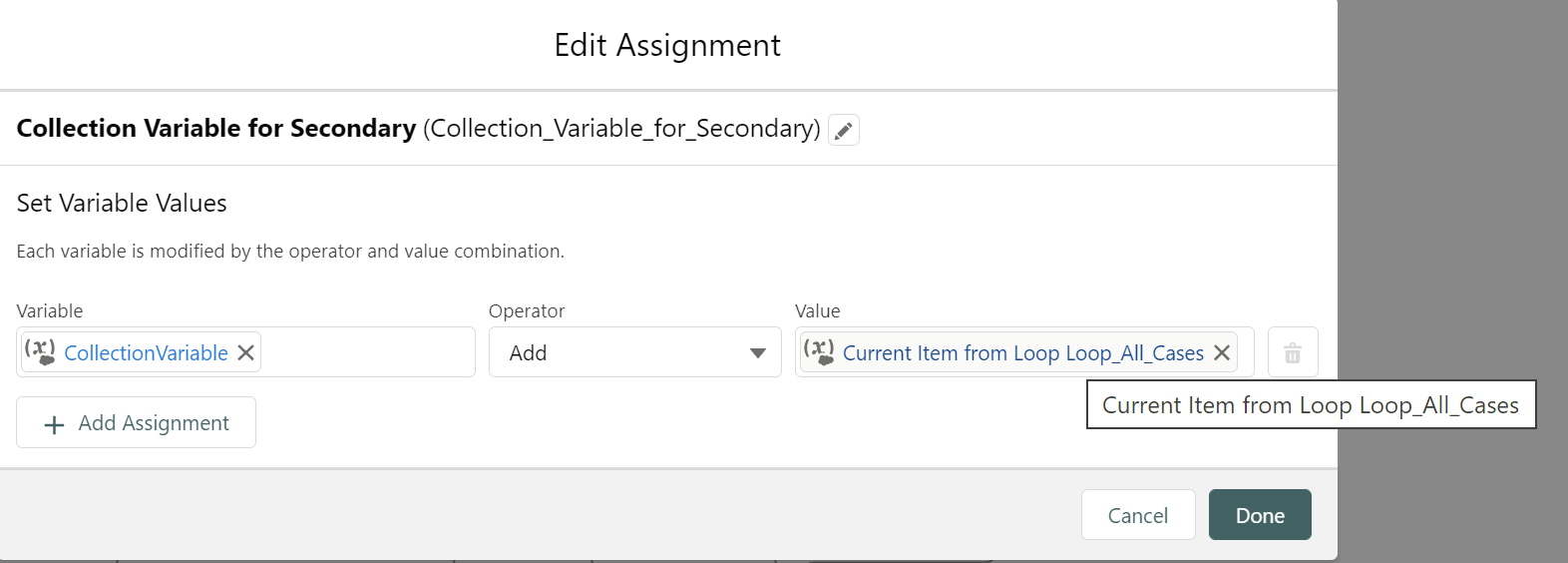 Assignment-4: Collection Variable