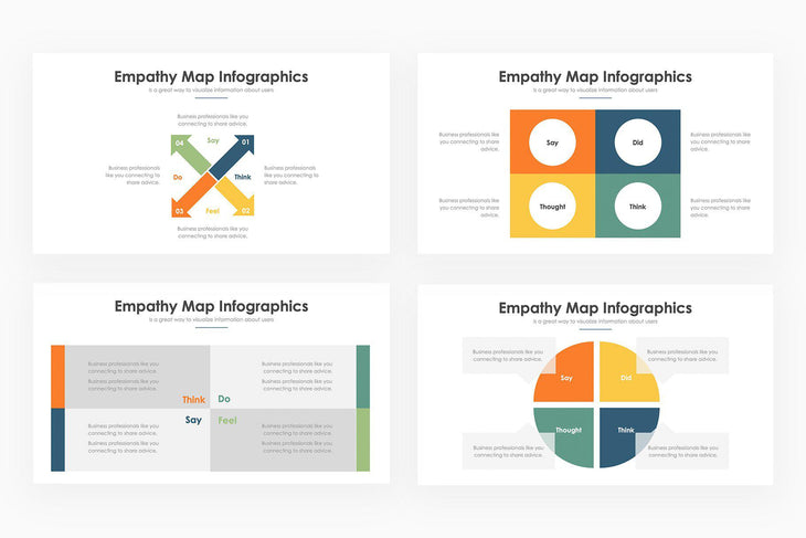 Empathy Maps Infographics - PowerPoint Template