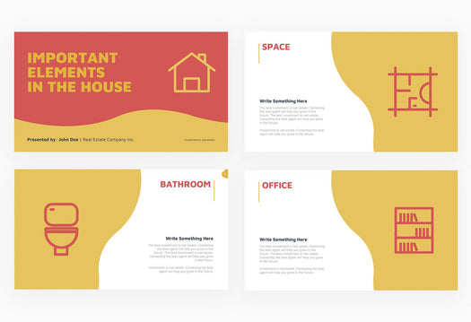 Important Elements in the House Real Estate Presentation Template