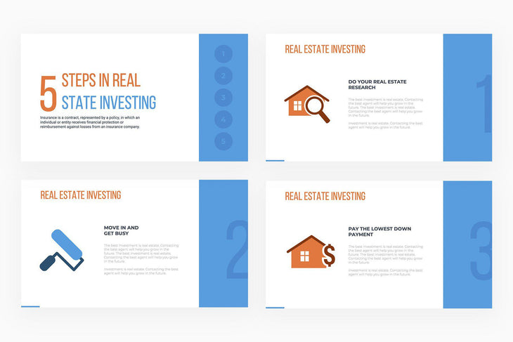 Steps in Real Estate Investing Presentation Template