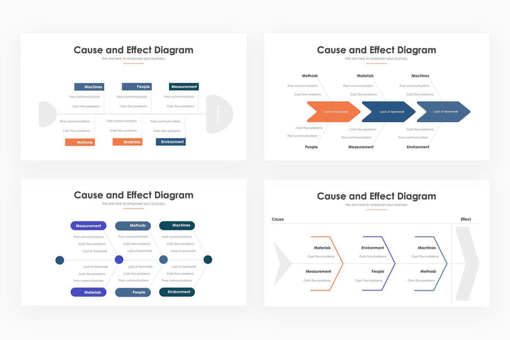 Fishbone Infographics - PowerPoint Template