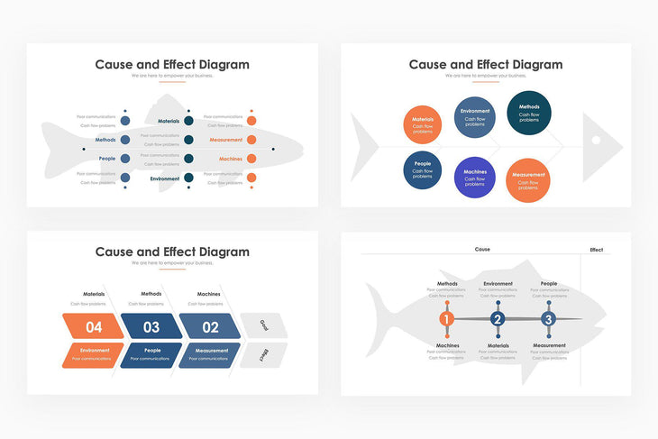 Fishbone Infographics - PowerPoint Template 2