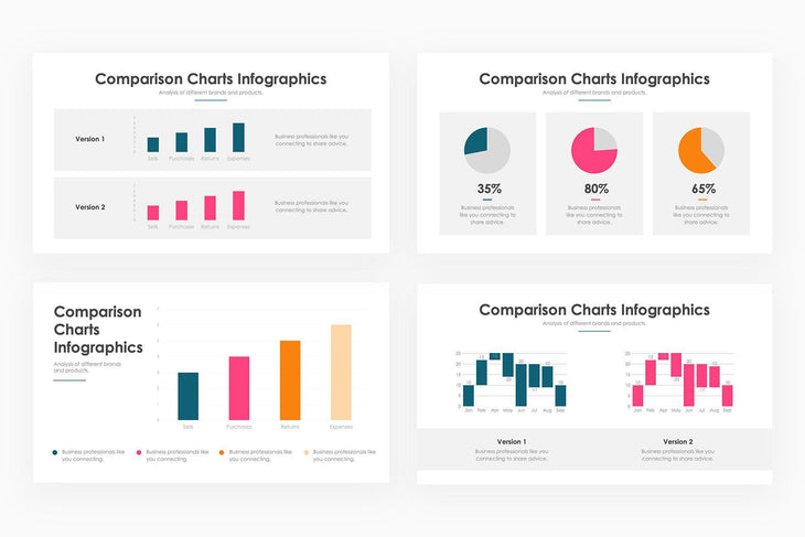 Comparison Charts Infographics - PowerPoint Template