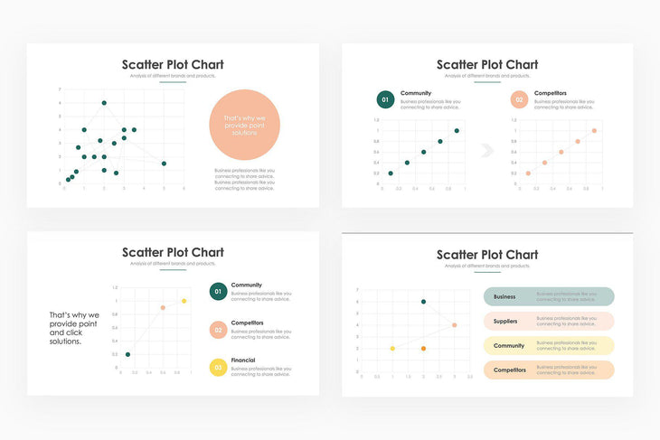 Scatter Plot Infographics - PowerPoint Template