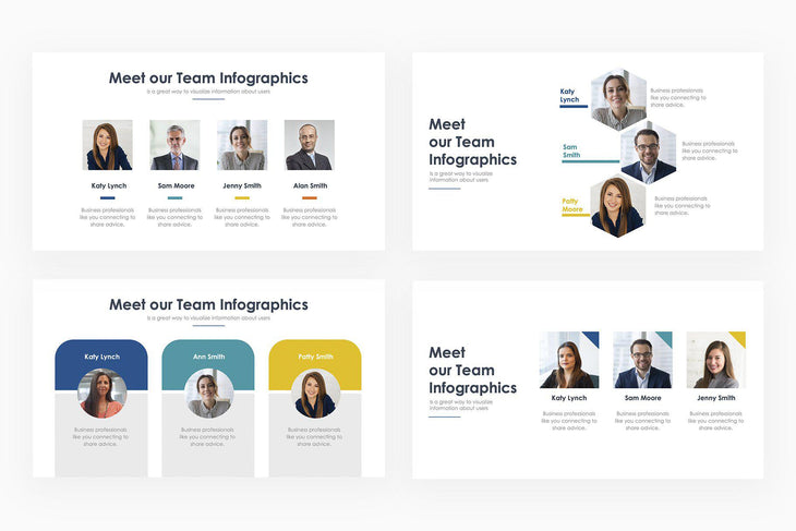 Meet Our Team Infographics - PowerPoint Template
