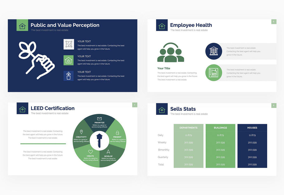 Leed Certification and Commercial Real Estate Presentation Template