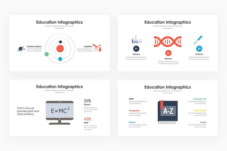 Education Infographics 2 - PowerPoint Template